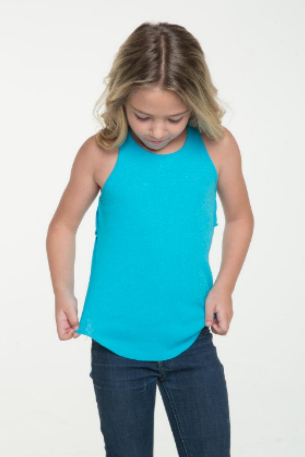 Chaser Racerback Ruffle Tank - Side Cropped Image