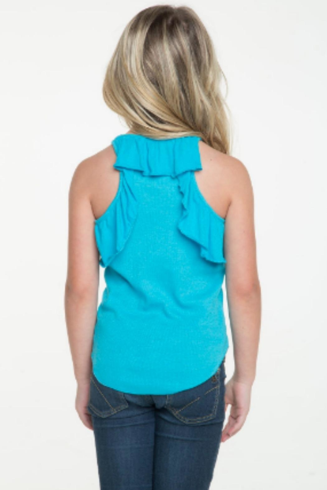 Chaser Racerback Ruffle Tank - Front Cropped Image