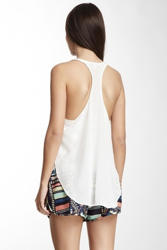 Lavender Brown Racerback Silk Tank - Alternate List Image