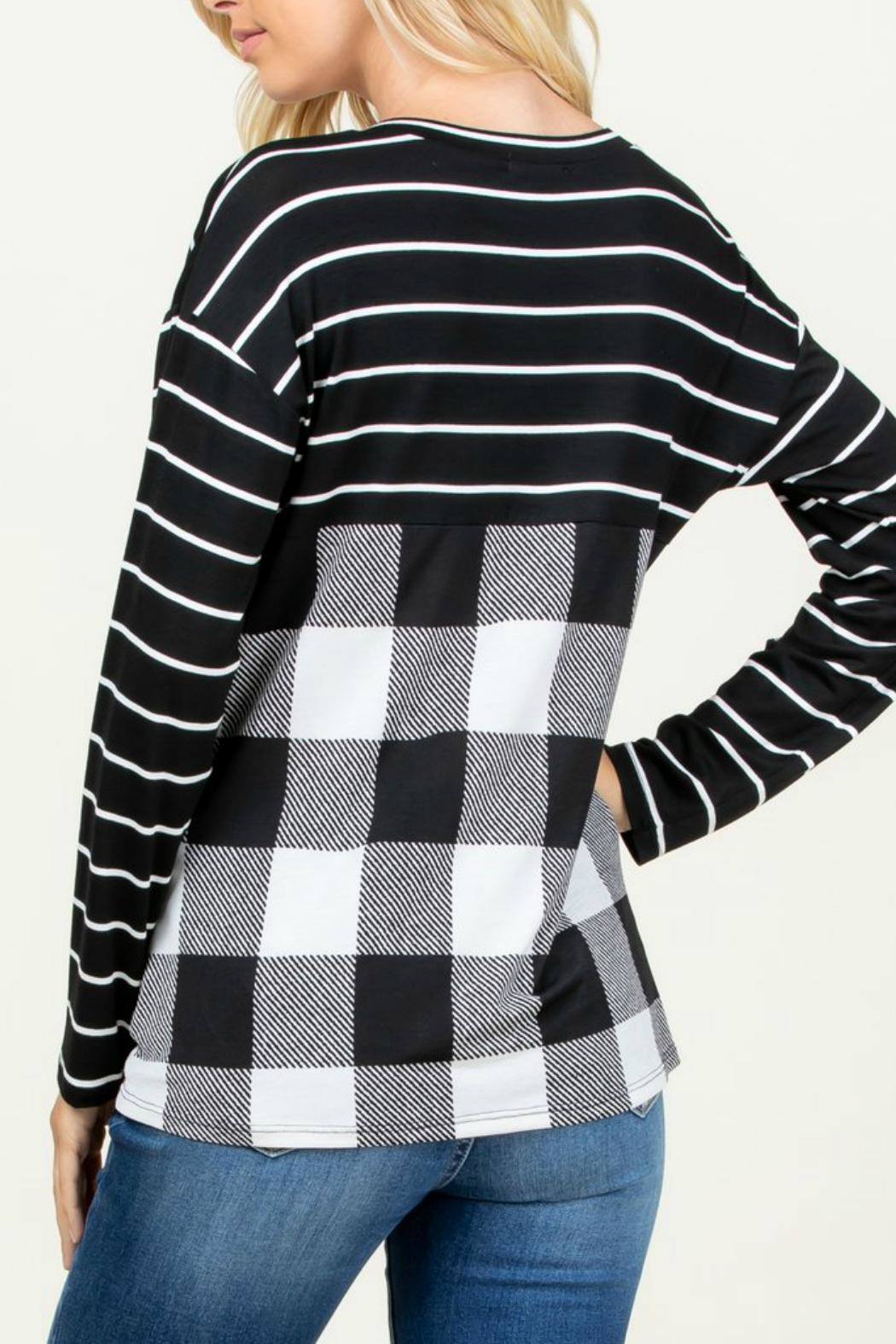 Rachael Sequined-Detail Plaid Top - Front Full Image