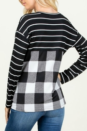 Rachael Sequined-Detail Plaid Top - Front full body