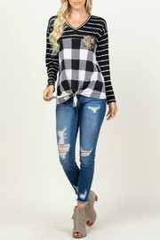 Rachael Sequined-Detail Plaid Top - Back cropped