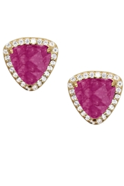 Rachael Ryen Triangle Pave Stud Earrings - Front cropped
