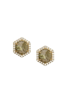 Shoptiques Product: Pave Labradorite Stud Earrings