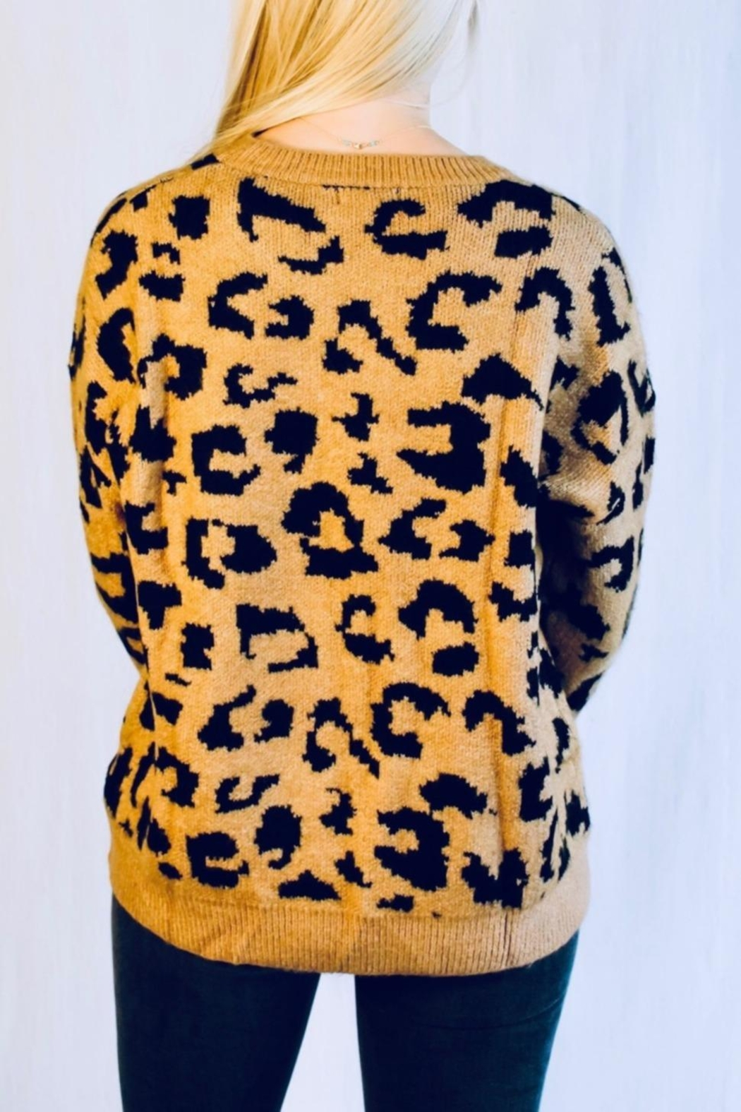 Racheal Brown Cheetah Sweater - Side Cropped Image