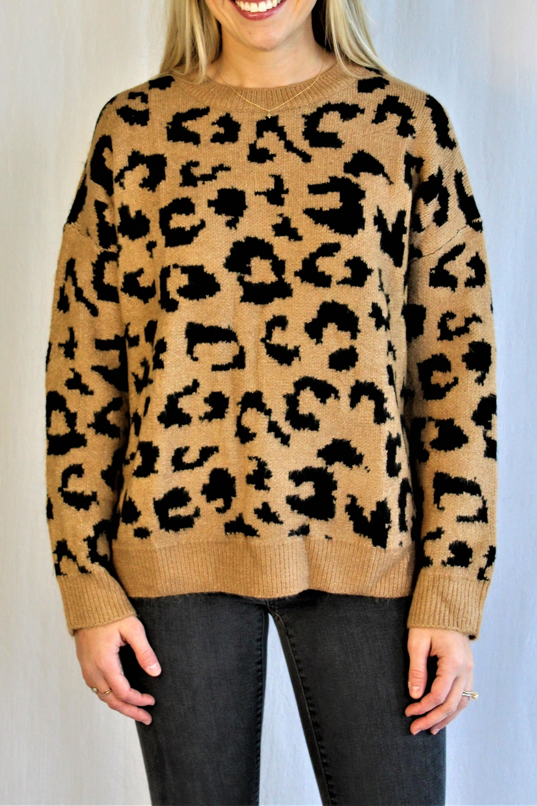 Racheal Brown Cheetah Sweater - Main Image