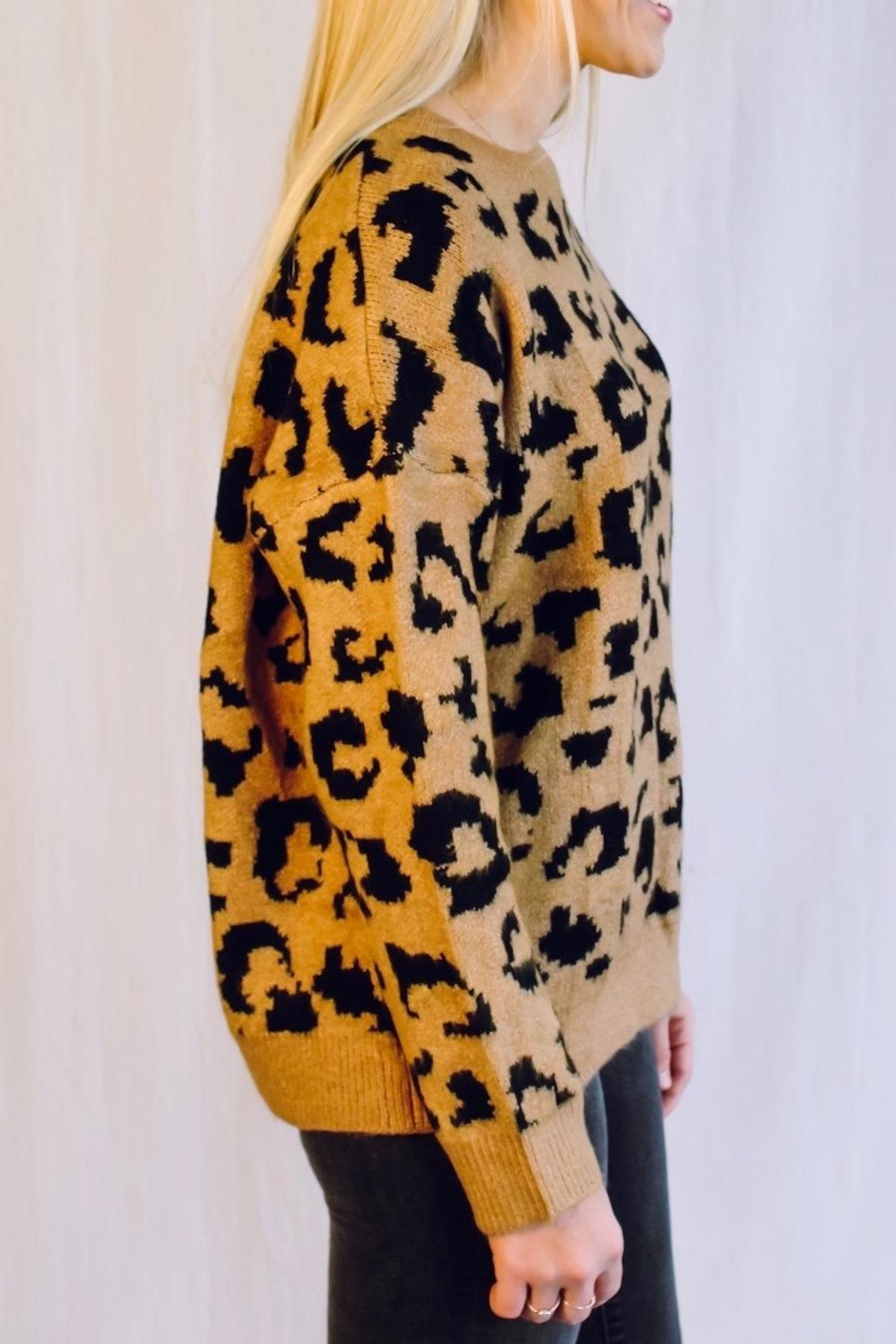 Racheal Brown Cheetah Sweater - Front Full Image