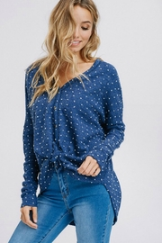 Racheal Button-Up Dot Sweater - Front cropped