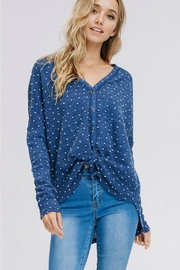Racheal Button-Up Dot Sweater - Front full body
