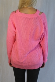 Racheal V Open Shoulder Sweater - Front full body