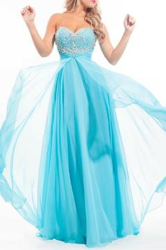 Rachel Allan Strapless Chiffon Gown - Alternate List Image