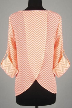 Rachel Kate Coral Chevron Back Layered Top - Alternate List Image