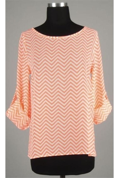 Rachel Kate Coral Chevron Back Layered Top - Product List Image
