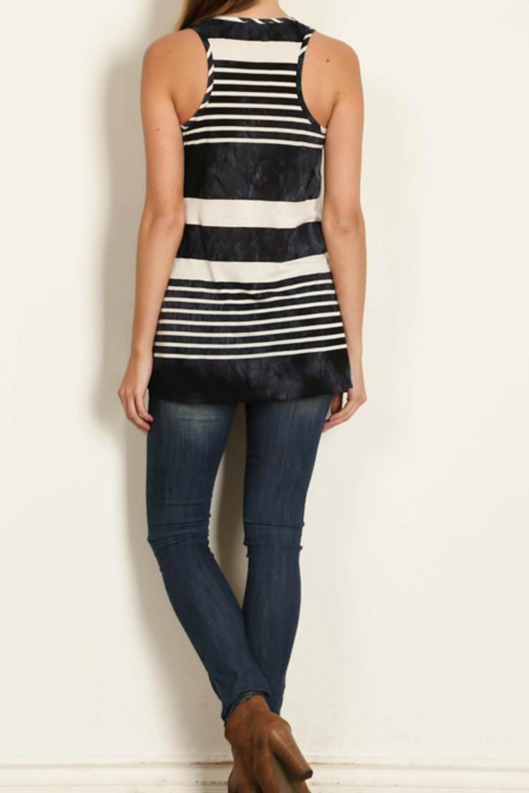Rachel Kate Tiedie Stripe Anchor Tunic - Side Cropped Image