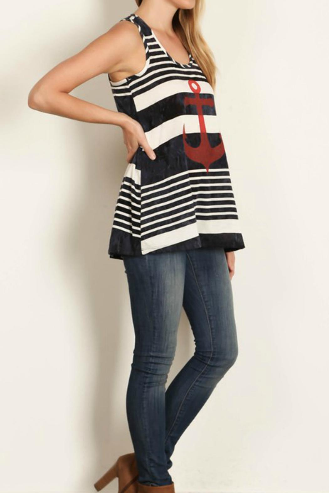Rachel Kate Tiedie Stripe Anchor Tunic - Front Full Image