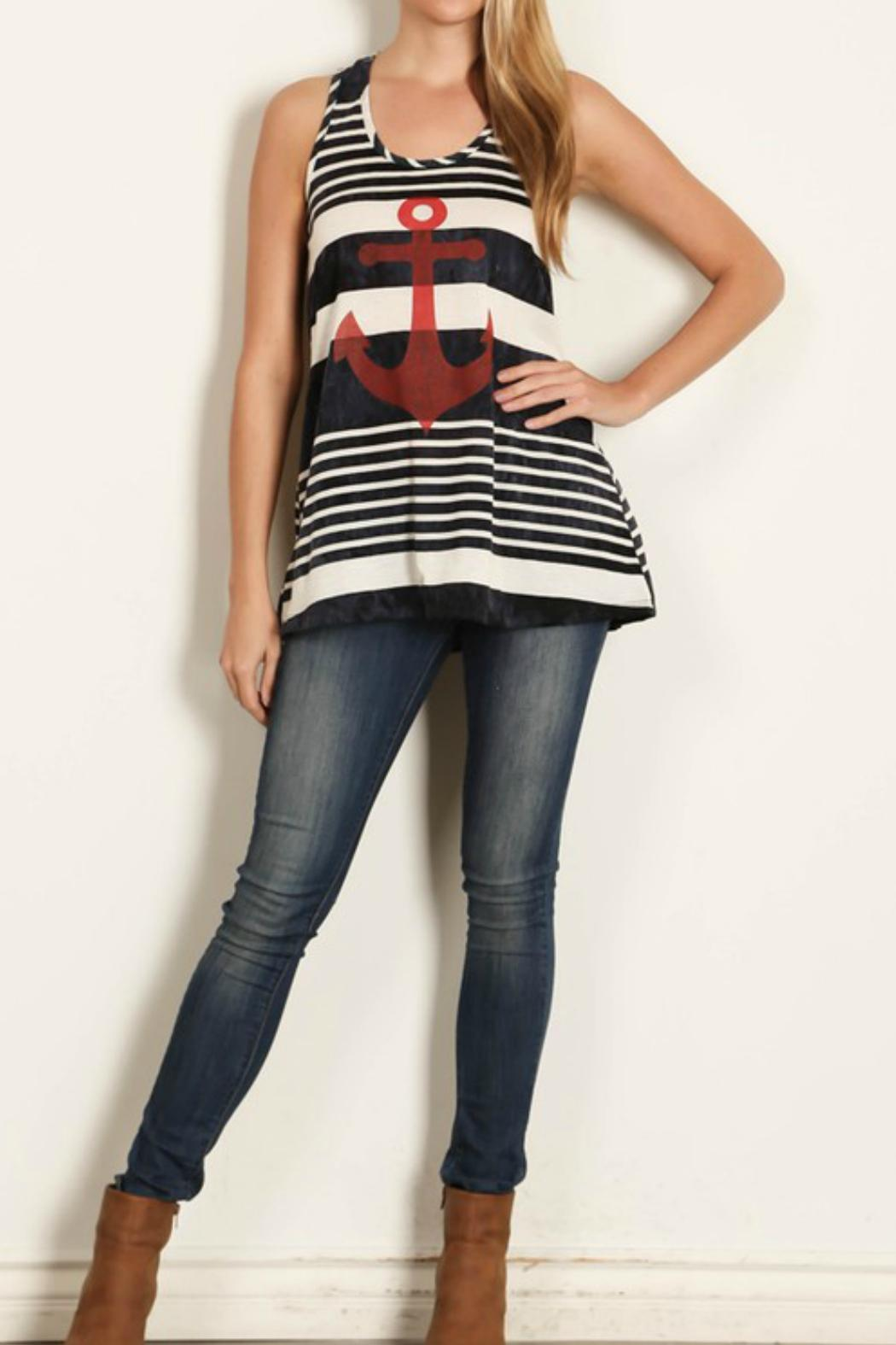 Rachel Kate Tiedie Stripe Anchor Tunic - Main Image