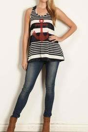 Rachel Kate Tiedie Stripe Anchor Tunic - Front cropped
