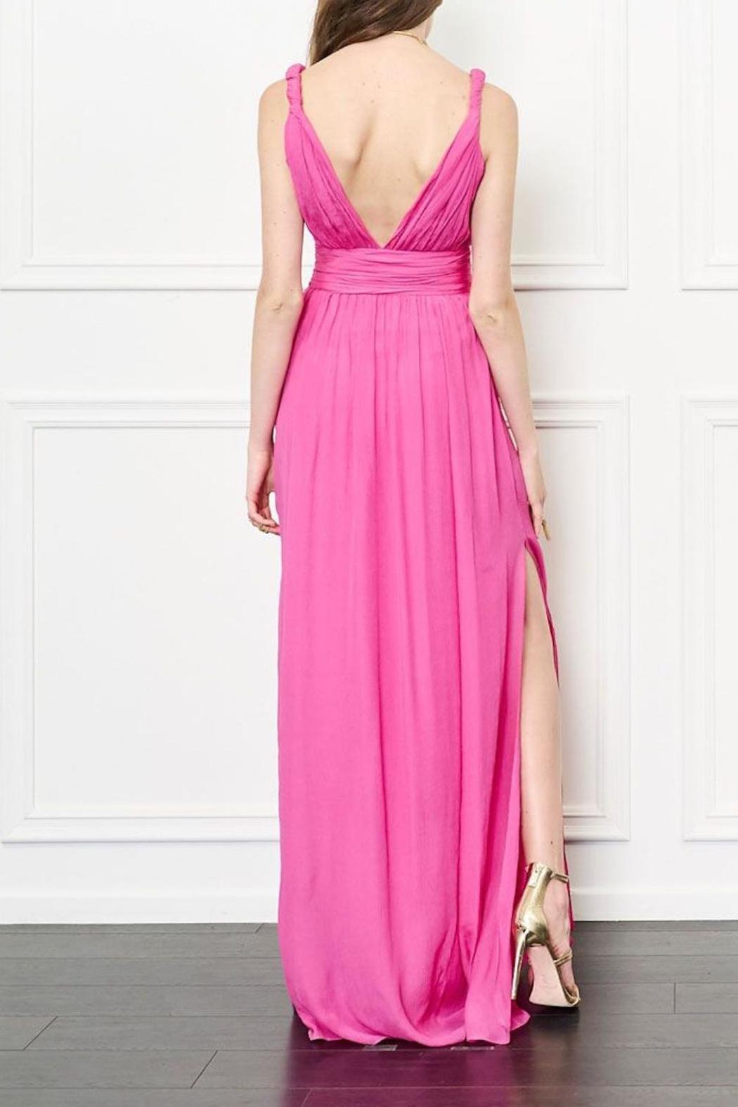 Rachel Zoe Pink Silk Dress - Front Full Image