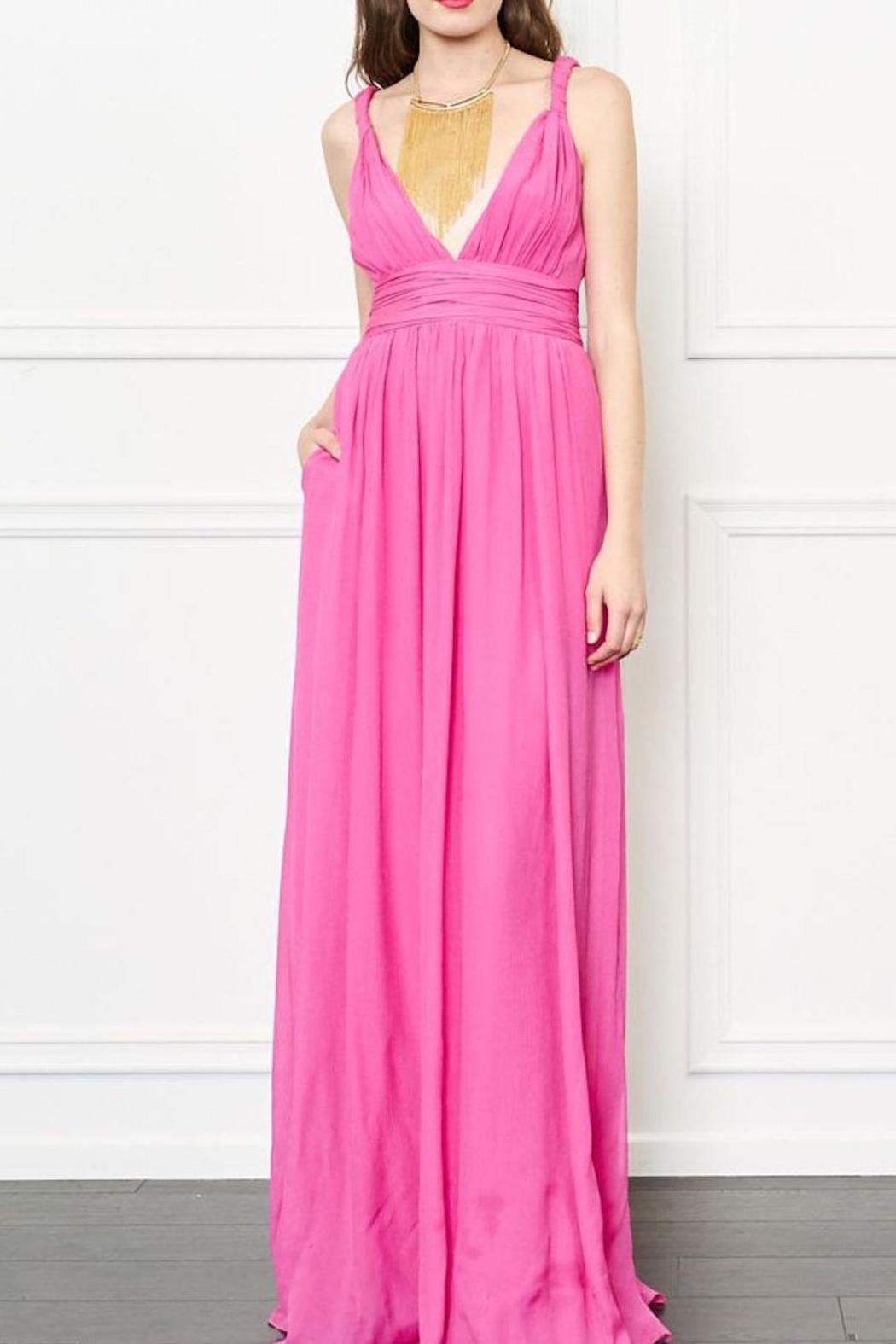 Rachel Zoe Pink Silk Dress - Front Cropped Image