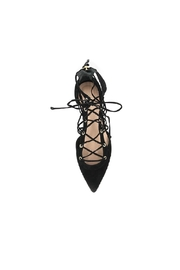 Rachel Zoe Renae Lace Up Flats - Front full body