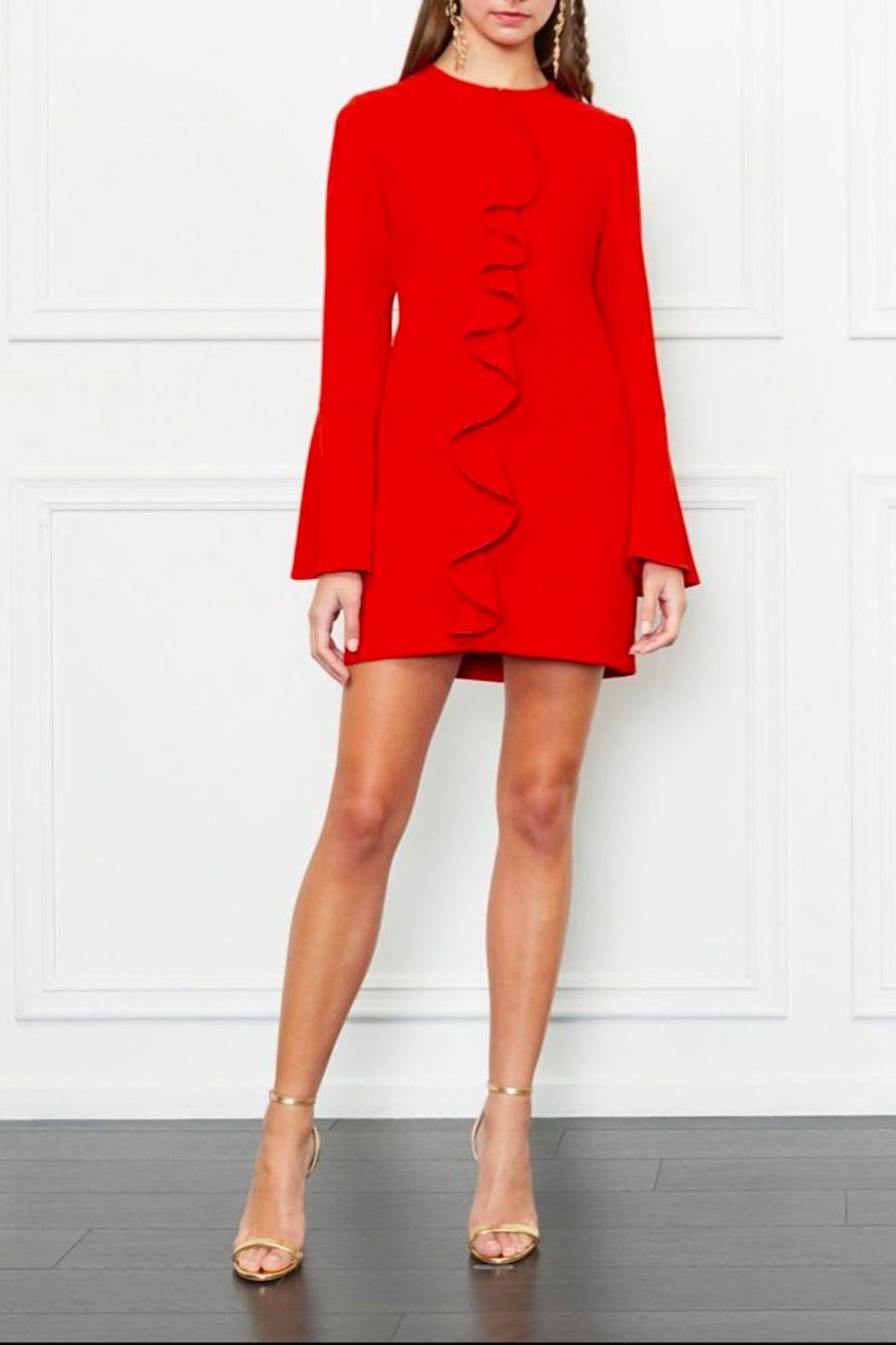 Rachel Zoe Ruffle Mini Dress - Front Cropped Image