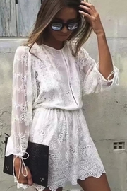 Racine All-White Lace Dress - Product Mini Image