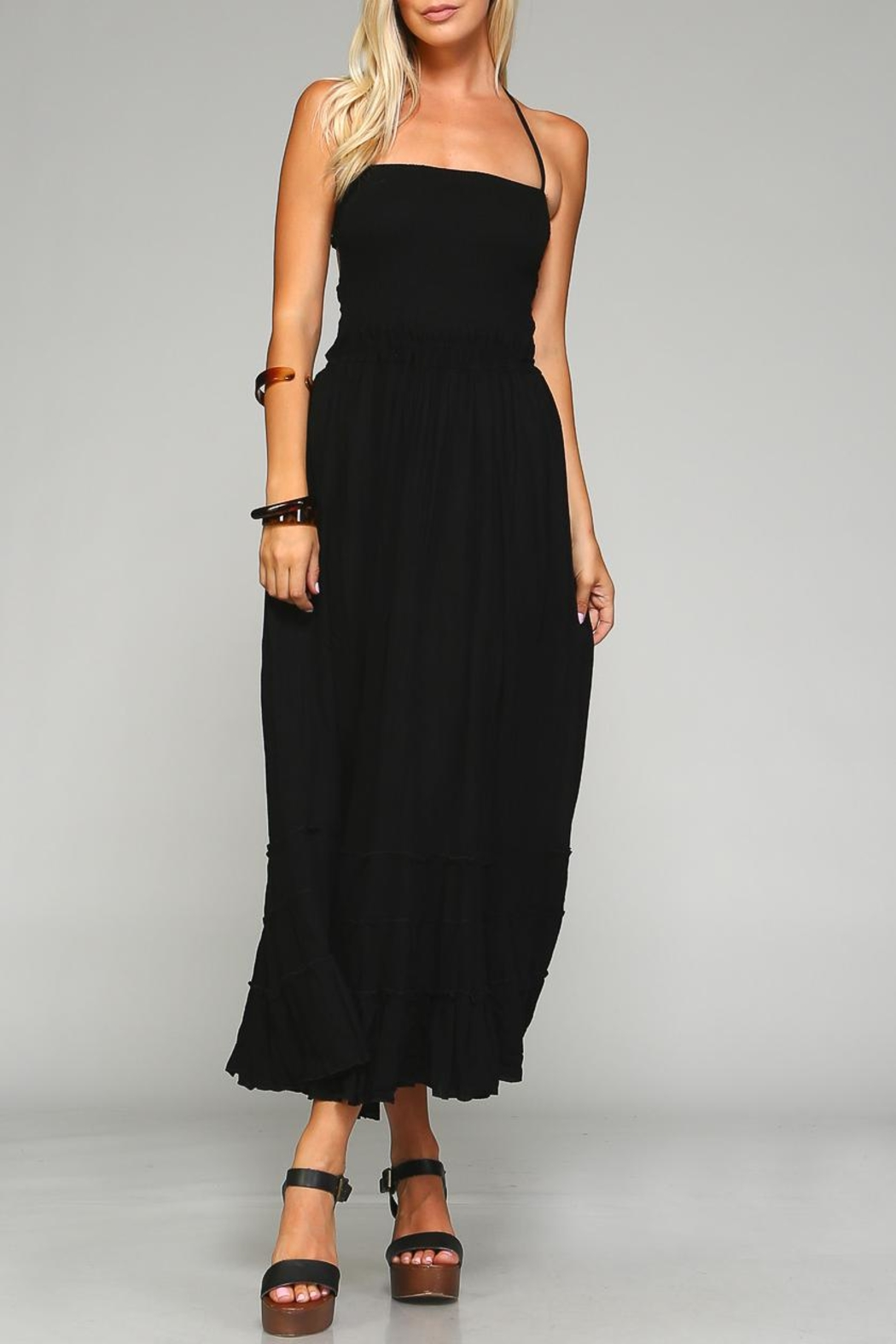 Racine Backless Maxi Dress - Front Cropped Image