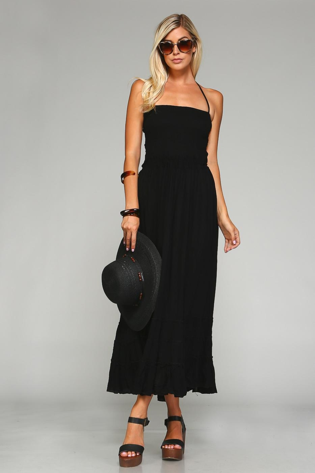 Racine Backless Maxi Dress - Side Cropped Image