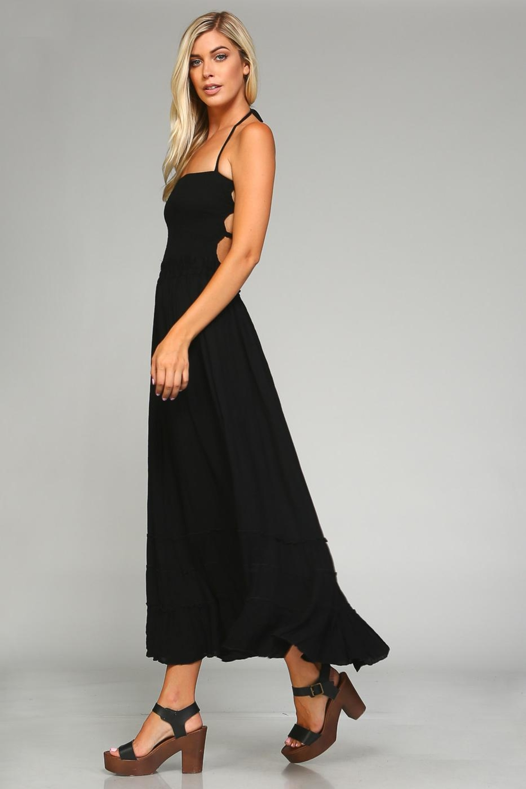 Racine Backless Maxi Dress - Front Full Image