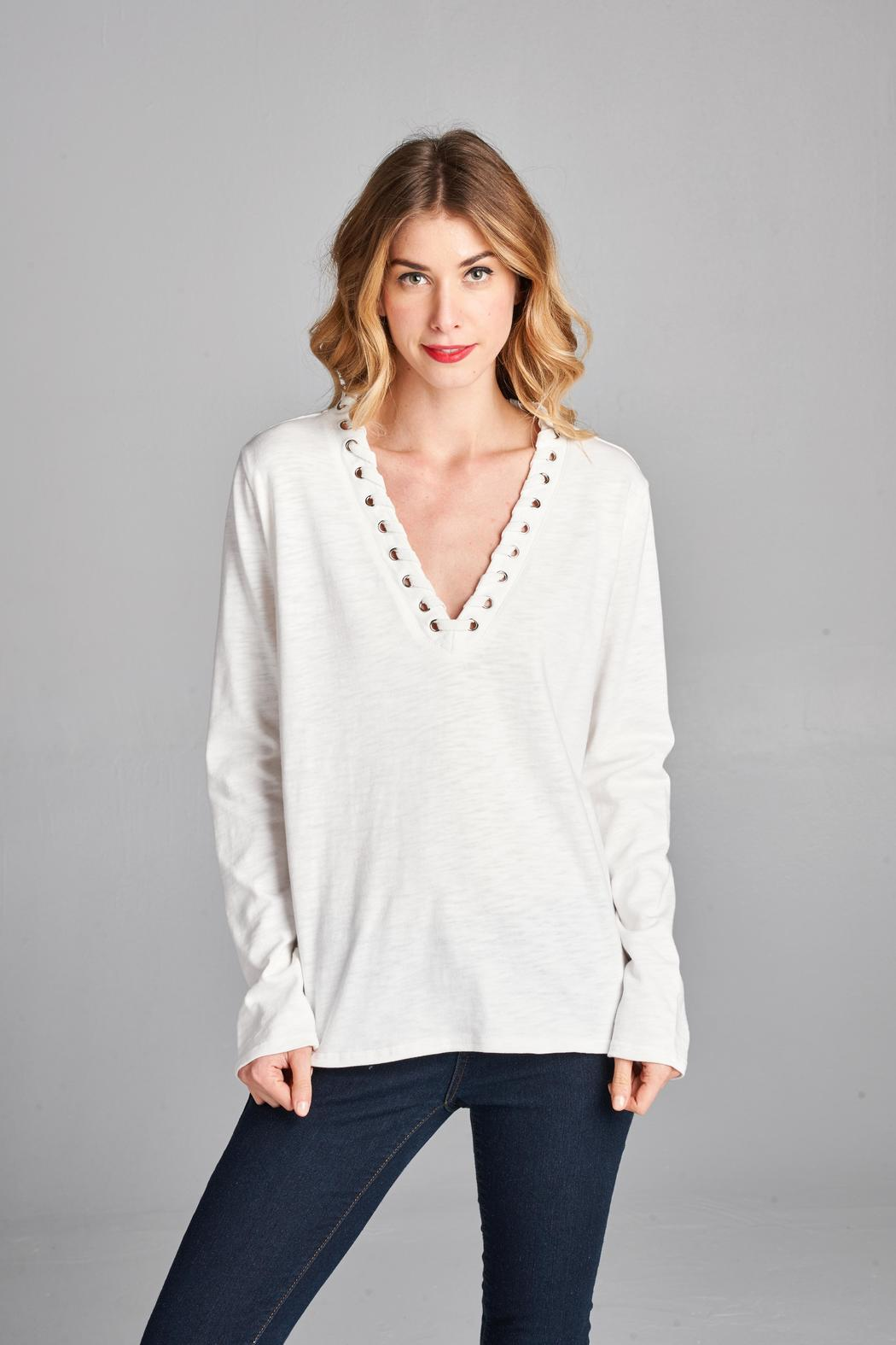 Racine Basic Top - Front Full Image