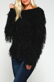 Racine Black Fur Sweater - Product Mini Image