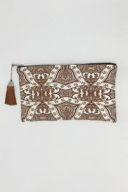 Racine Boho Clutch Bag - Front cropped