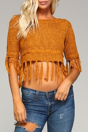 Racine Boho Crop Sweater - Product Mini Image