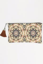 Racine Boho Print Clutch Bag - Product Mini Image
