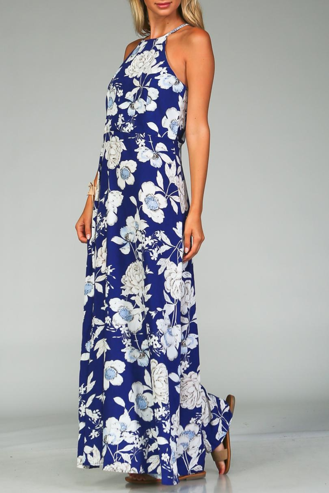 Racine Bold Floral Maxi Dress - Side Cropped Image