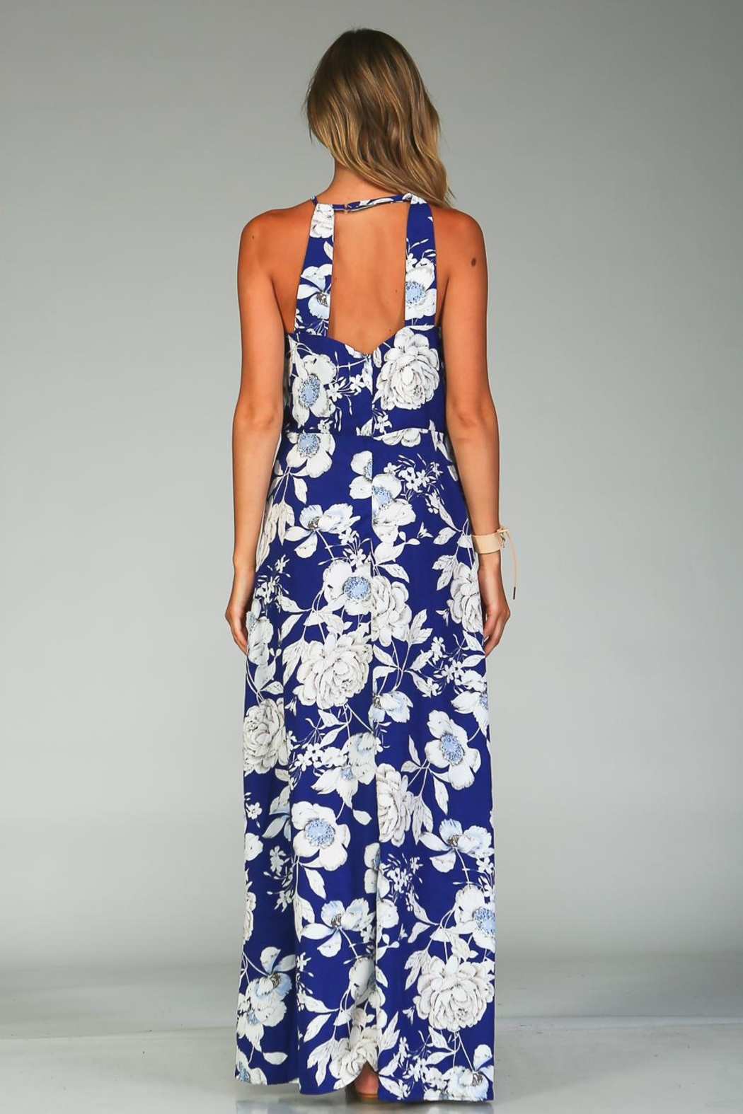 Racine Bold Floral Maxi Dress - Back Cropped Image