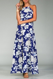 Racine Bold Floral Maxi Dress - Front full body