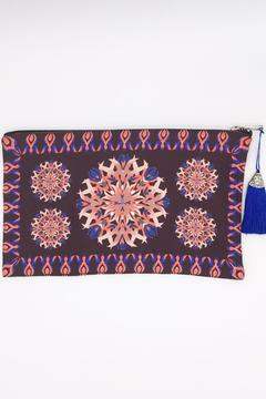 Shoptiques Product: Burgundy Print Clutch