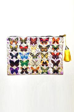 Shoptiques Product: Butterfly Print Clutch