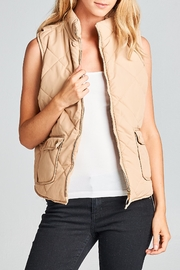 Racine Camel Puff Vest - Front cropped