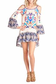 Racine Cold-Shoulder Print Dress - Product Mini Image