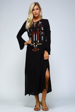 Racine Embroidered Boho Maxi - Alternate List Image