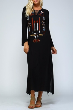 Racine Embroidered Boho Maxi - Product List Image