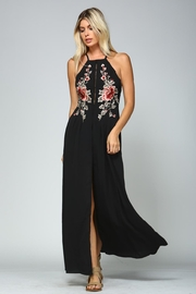 Racine Floral Embroidered Dress - Front full body