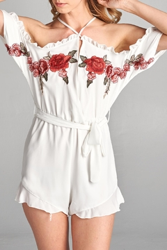 Shoptiques Product: Floral Embroidered Romper