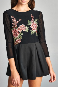 Shoptiques Product: Floral Embroidery Romper