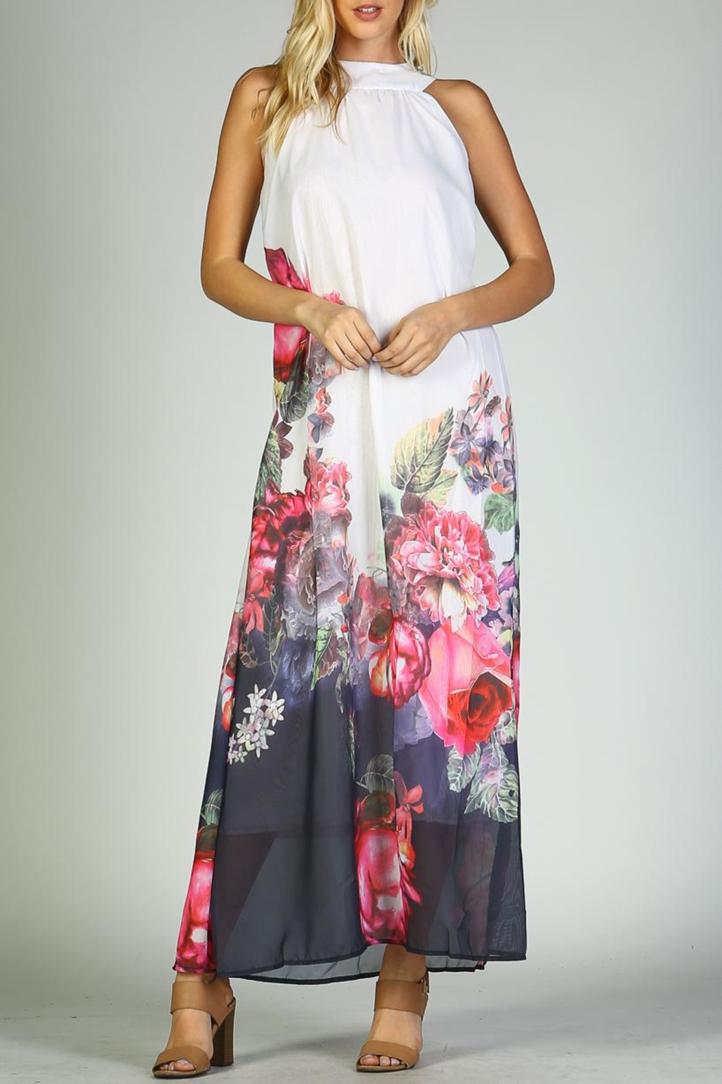 Racine Floral Maxi Dress - Front Cropped Image