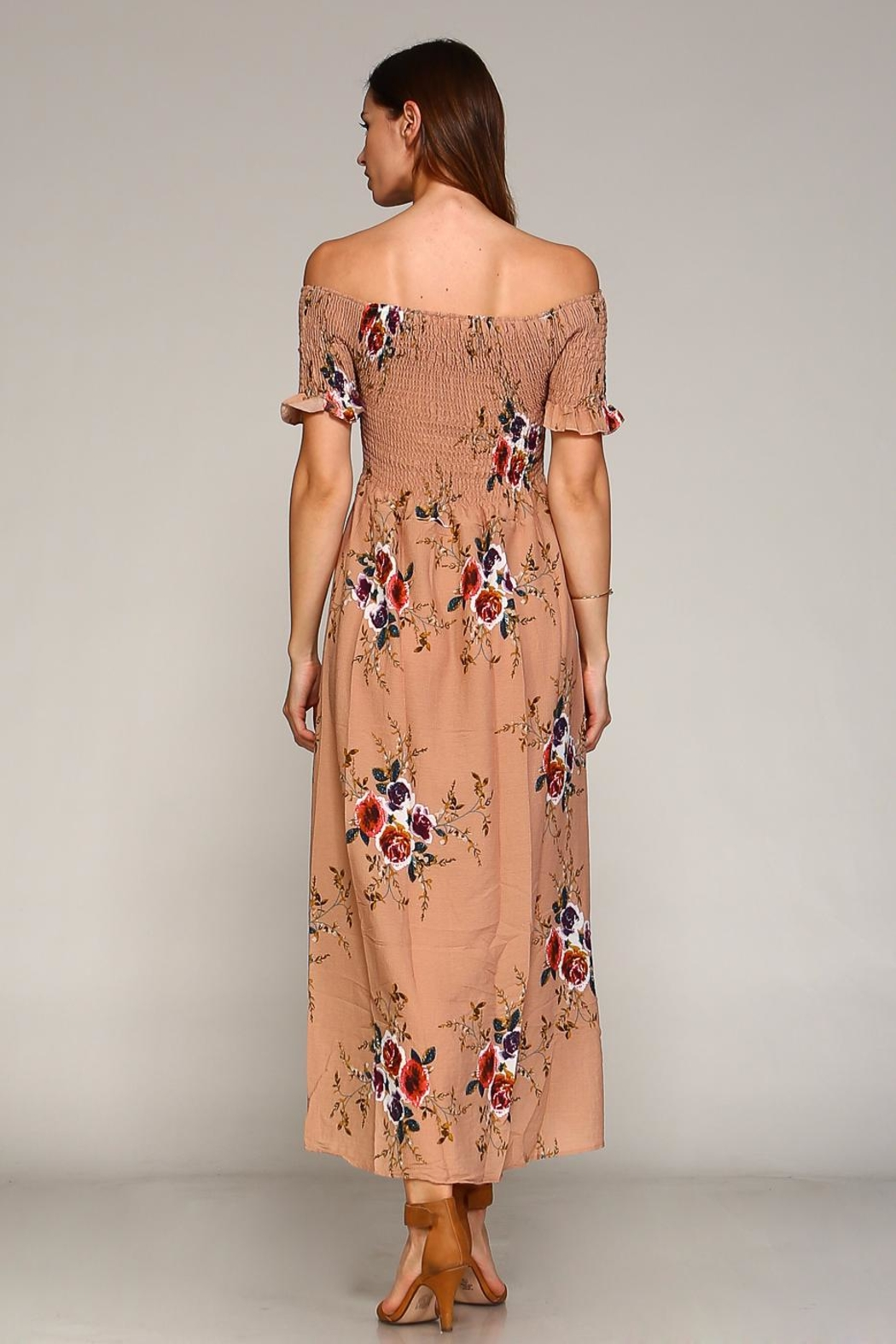 Racine Floral Maxi Dress - Back Cropped Image