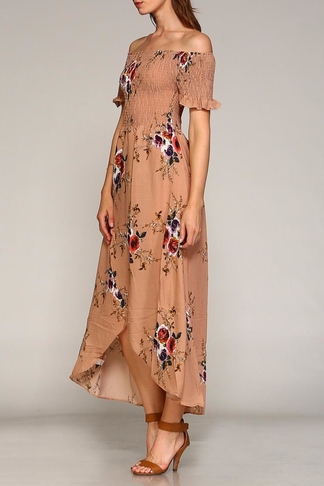 Racine Floral Maxi Dress - Side Cropped Image