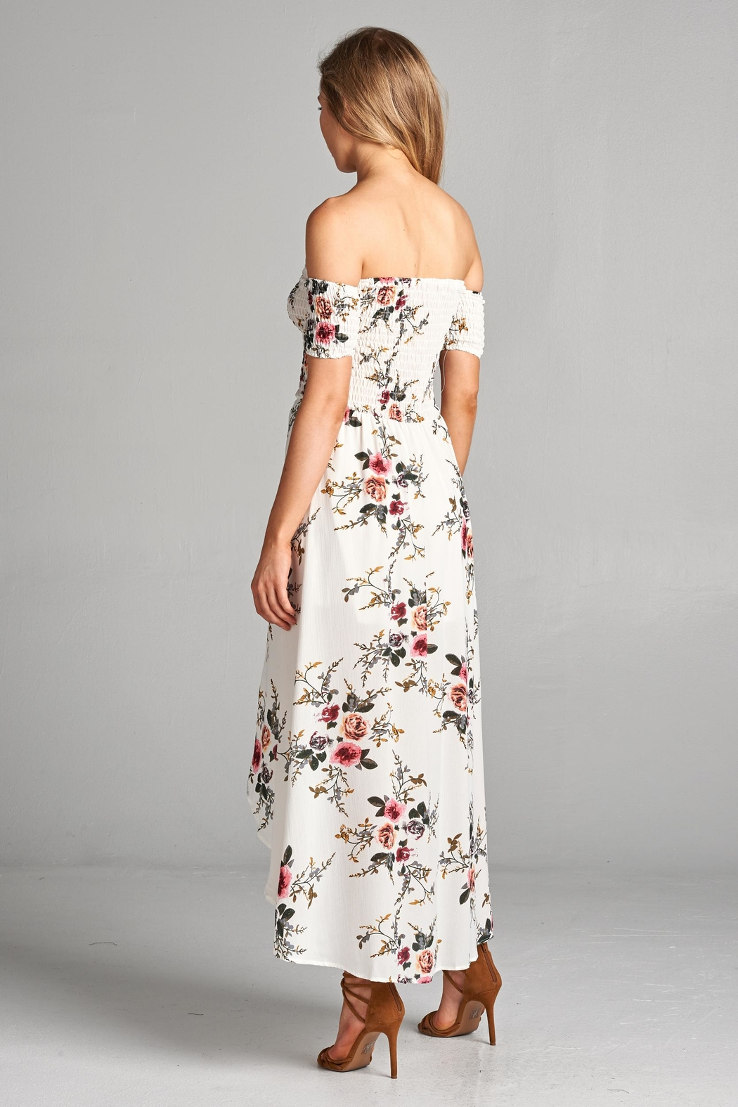 Racine Floral Off Shoulder Dress - Side Cropped Image